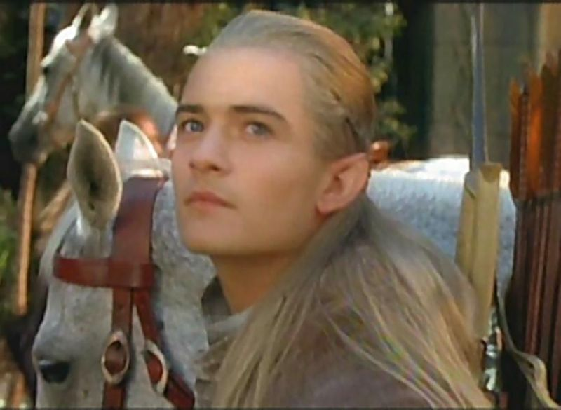 "Orlando as ""Legolas"", the hottest elf ever to hit the screen."